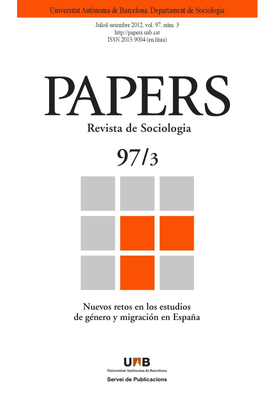Nuevos retos en los estudios de género y migración en España by ...