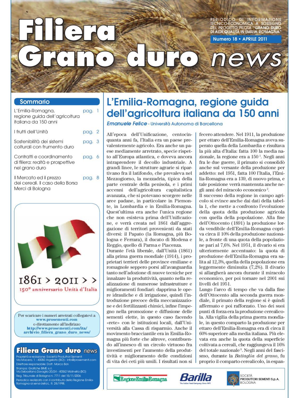 Filiera Grano Duro news - n. 18 - apr 2011 by Società ...