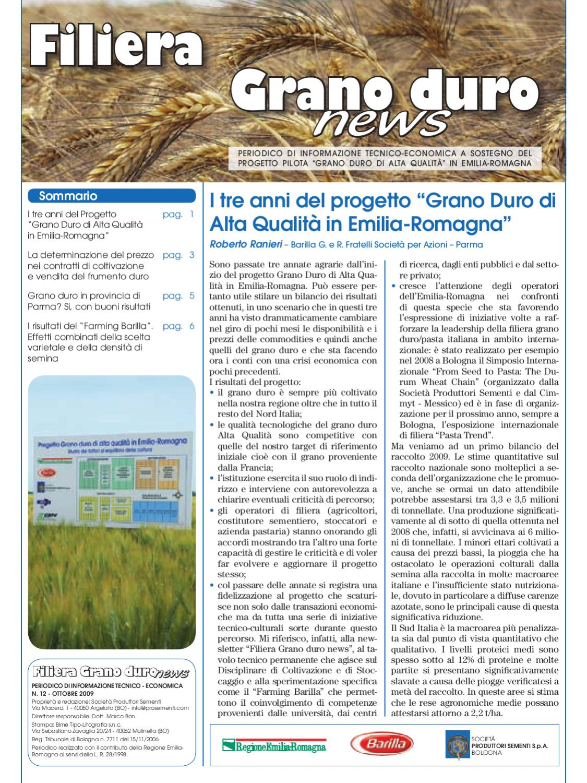 Filiera Grano Duro News - n. 12 - ott 09 by Società ...
