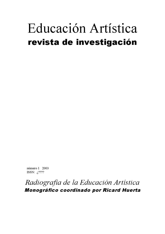 eari. educación artística. revista de investigación núm 1/2003 by ...