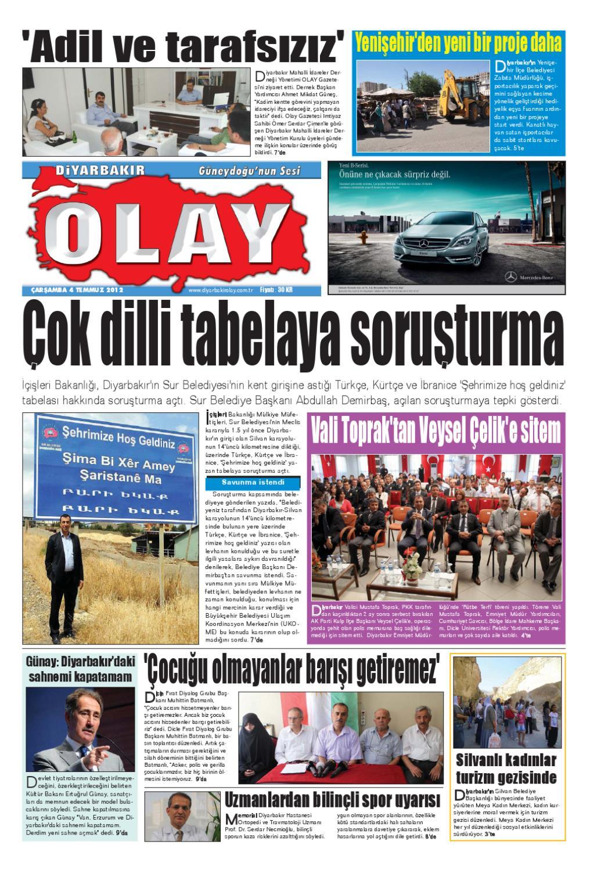 04 07 2012 Gazete Sayfalari By Diyarbakir Olaygazetesi Issuu
