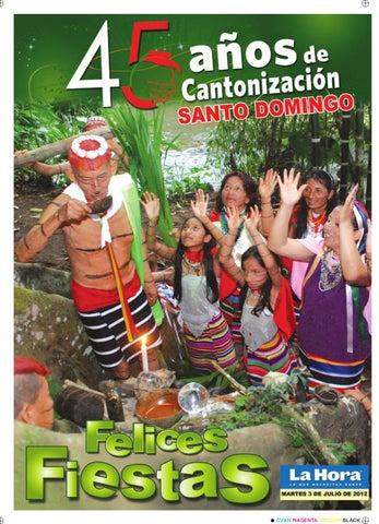 promo code 71630 2ed29 Especial Cantonizacion Santo Domingo 7 de julio de 2012 by Diario La ...
