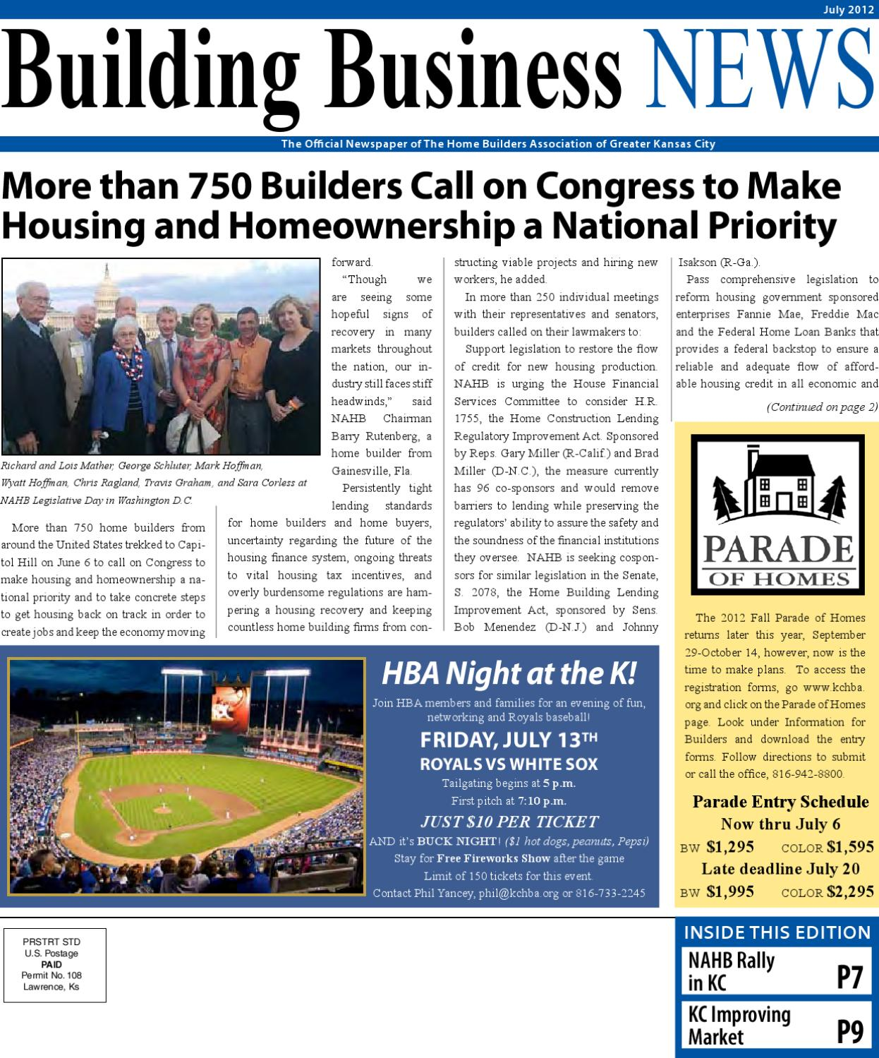 Building Business News-July 2012 By Home Builders