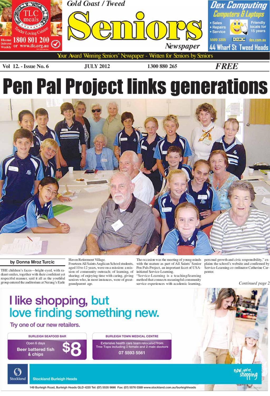 Gold Coast Tweed Seniors Newspaper July 2012 by Seniors
