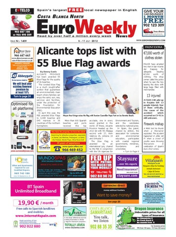 Costa Blanca North 05 – 11 July 2012 Issue 1409 by Euro Weekly News ...