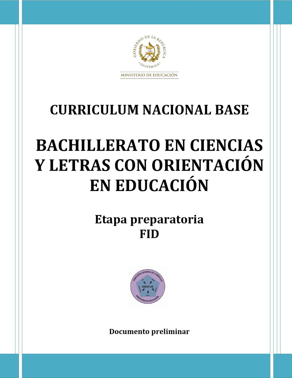 CURRICULUM NACIONAL BASE by Julio Herrera - issuu