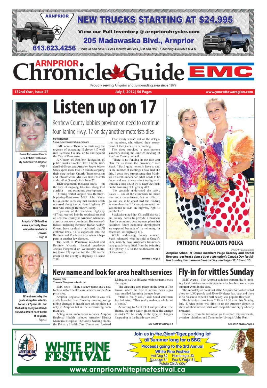 Arnprior Chronicle Guide EMC by Metroland East - Arnprior Chronicle-Guide -  issuu 534de82877