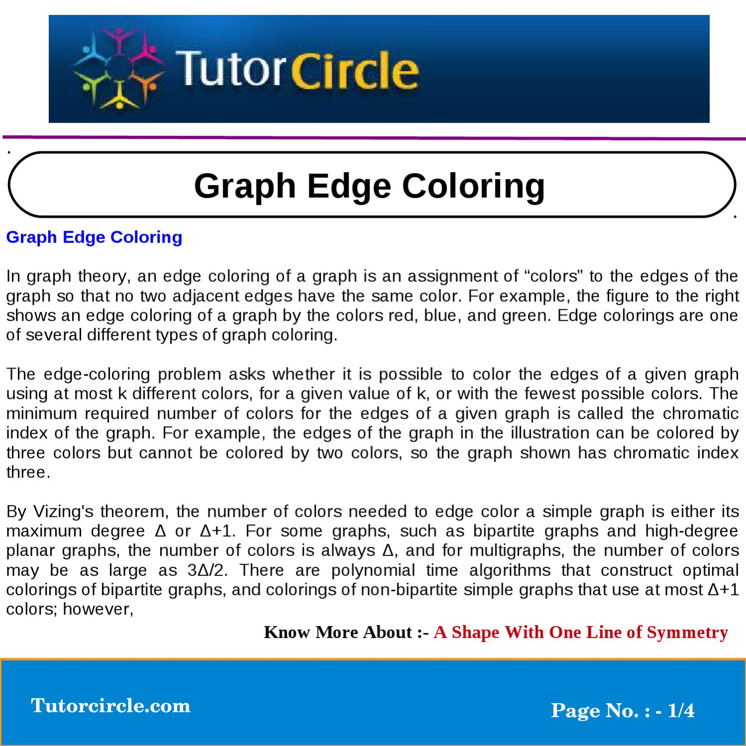 Graph Edge Coloring By Tutorcircle Team Issuu