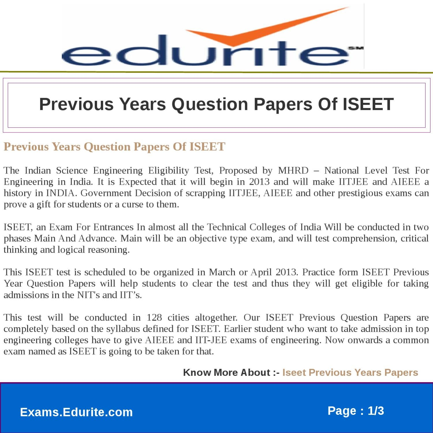 ISEET 2013 SYLLABUS EBOOK DOWNLOAD