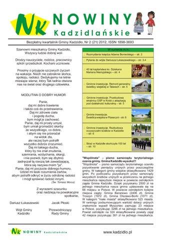 Nowiny Kadzidlanskie Nr 21 By Urząd Gminy Kadzidło Issuu