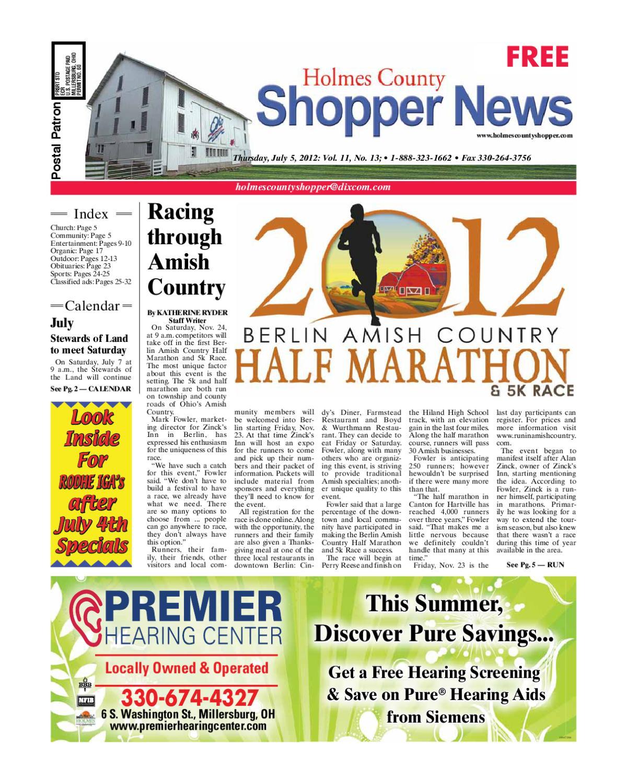 Holmes County Shopper, July 5, 2012 by GateHouse Media NEO - issuu
