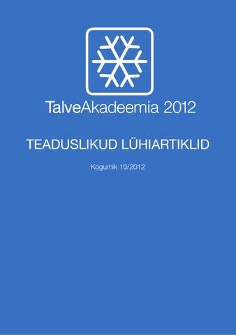 5a92576df2a TalveAkadeemia kogumik 10/2012 | WinterAcademy Scientific Article ...