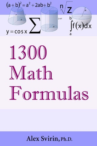 Math Formula Ebook