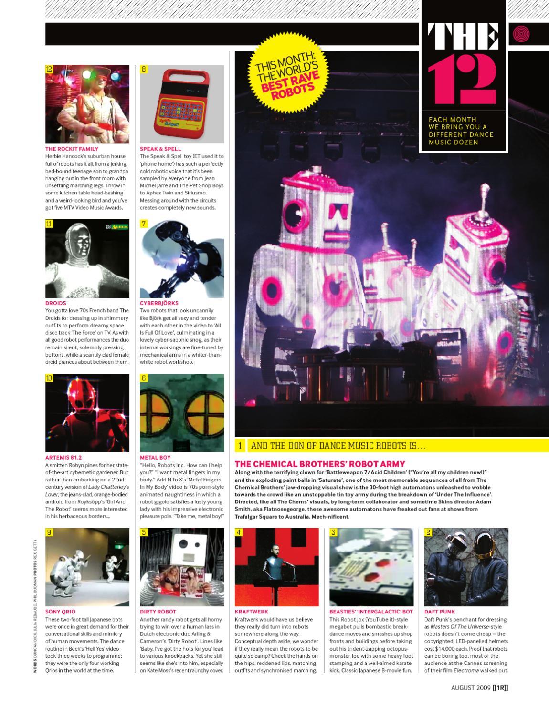 Top 12 Best Rave Robots August 2009 by Phil Dudman - issuu