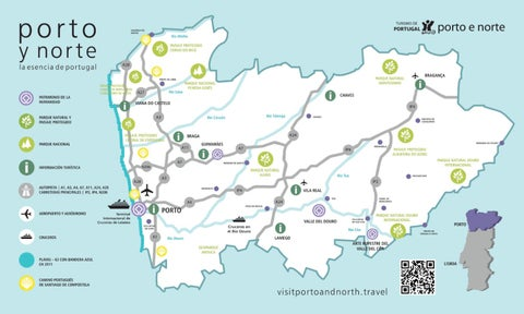Norte De Portugal Mapa.Mapa Turistico De Porto Y Norte De Portugal By Porto