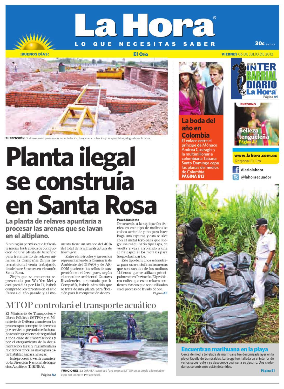 Diario La Hora El Oro 06 de Julio 2012 by Diario La Hora Ecuador - issuu