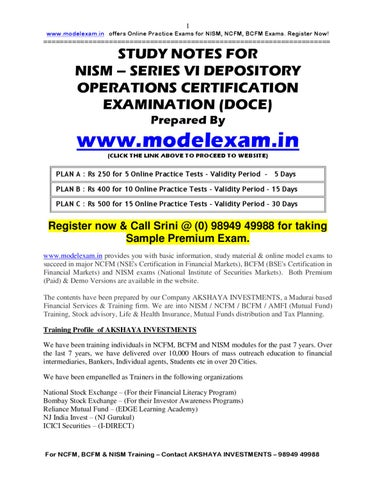 Equity study material pdf nism derivatives