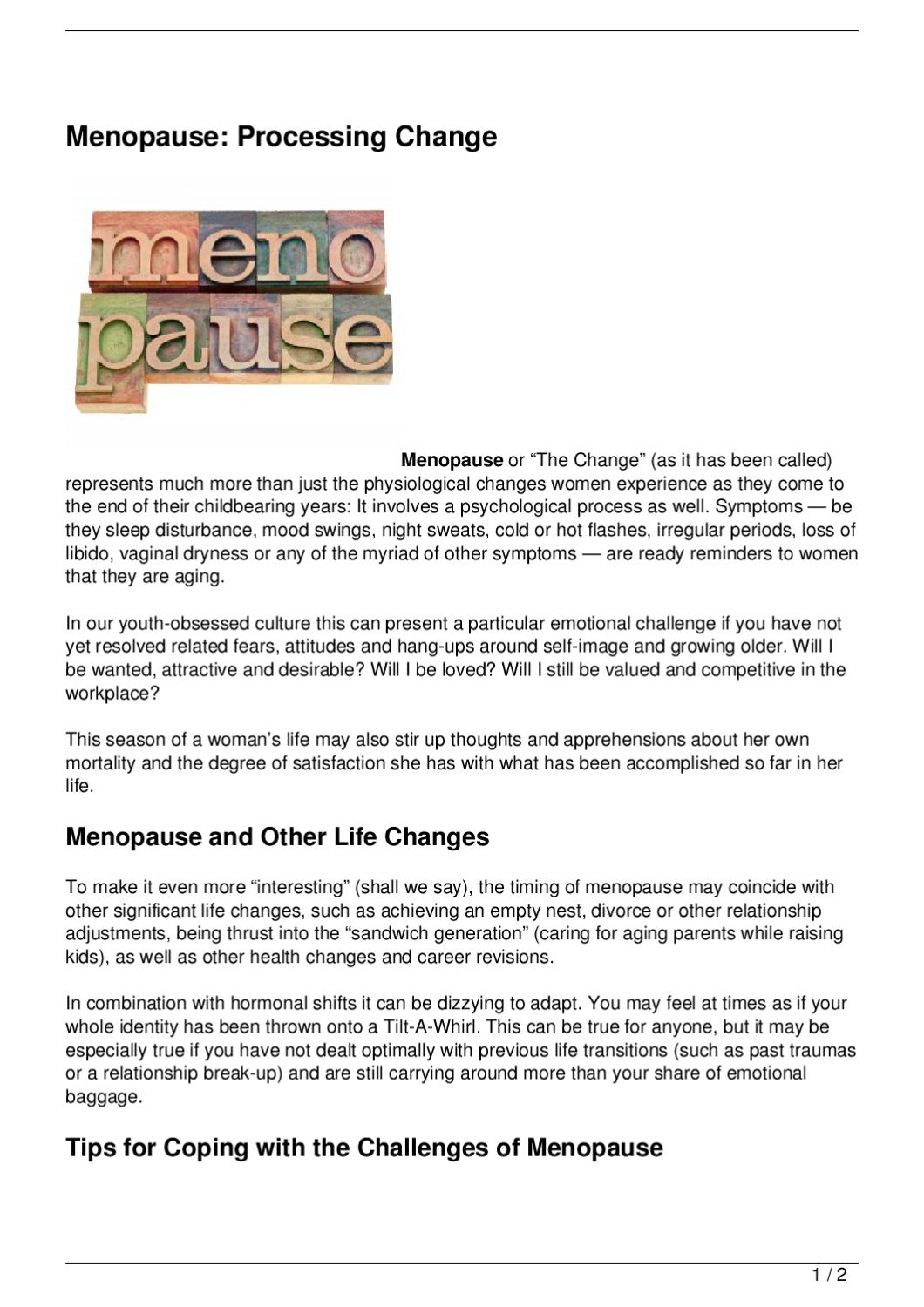 Refocusing Your Identity in Menopause recommend
