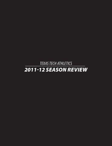 half off 4a592 d1998 2011-2012 Texas Tech Athletics Season Review