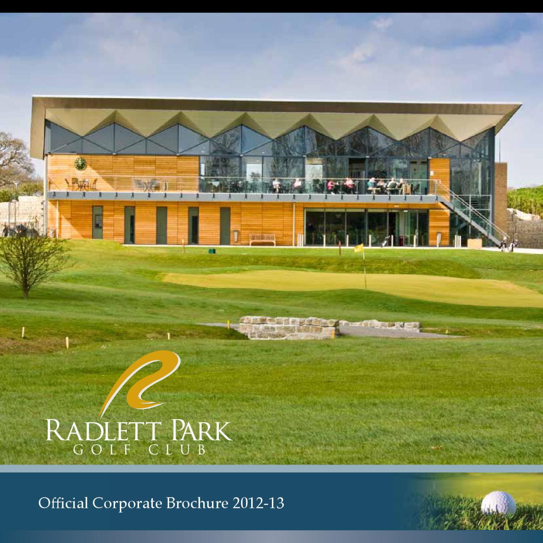radlett park golf club official corporate brochure 2012 2013 by