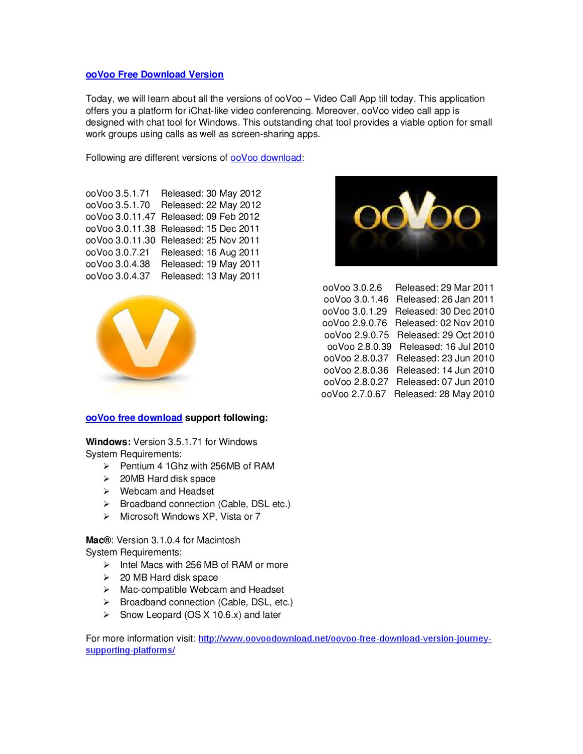 Oovoo free download version by peter sam issuu.