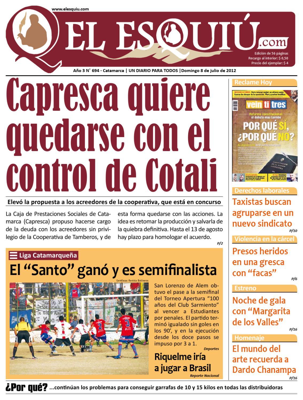 El Esquiu Com Domingo 8 De Julio De 2012 By Editorial El Esqui  # Muebles Yoma Antofagasta