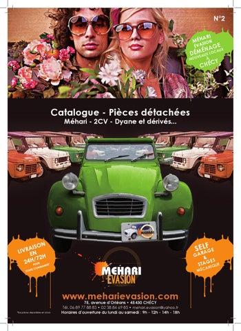 catalogue mehari evasion 2012 de pi ces d tach es neuves pour 2cv et m hari les mythes de. Black Bedroom Furniture Sets. Home Design Ideas