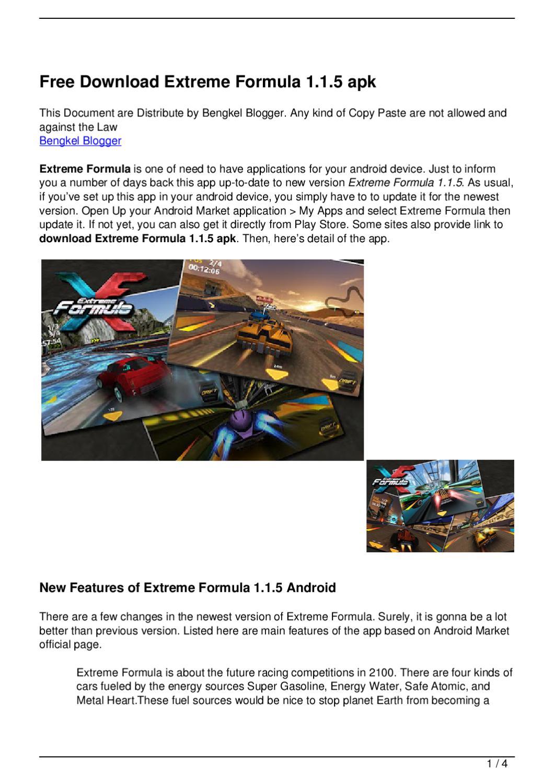 Free Download Extreme Formula 1 1 5 apk by Bayu Nugraha - issuu
