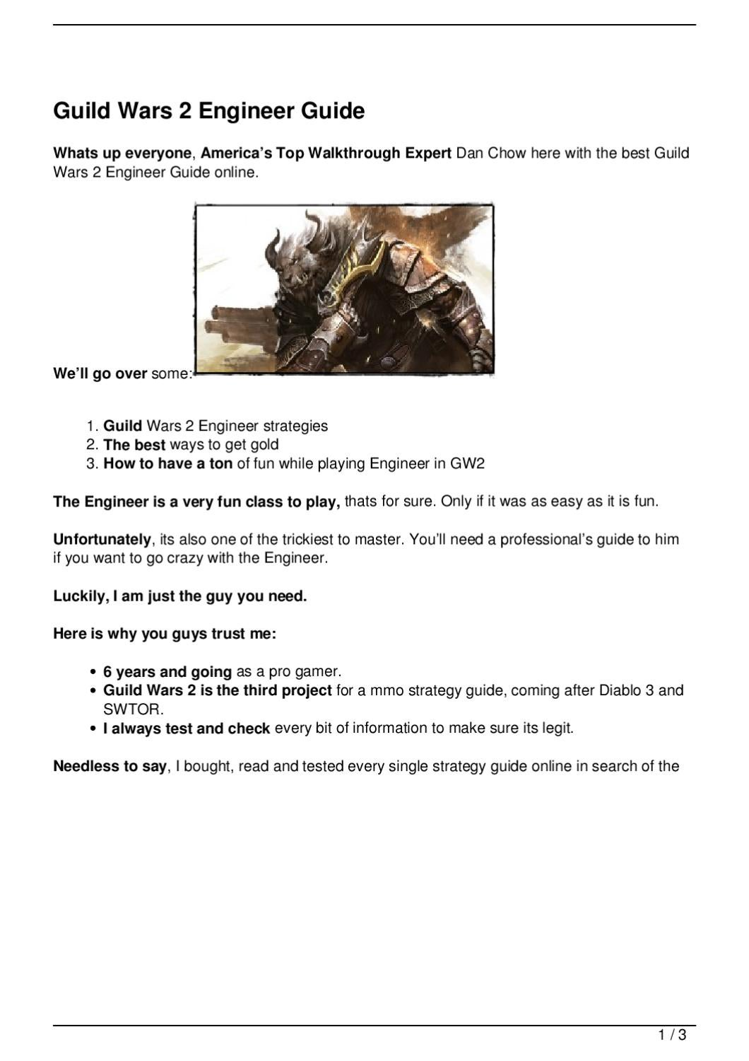 Guild Wars 2 Engineer Guide by Dan Chow - issuu