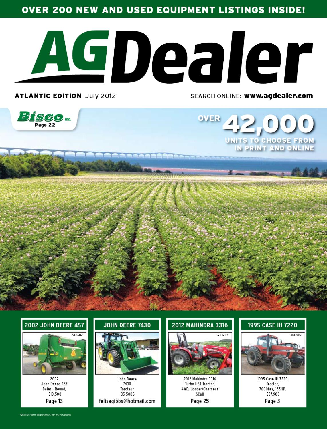 AGDealer Atlantic Edition, July 2012 by Farm Business