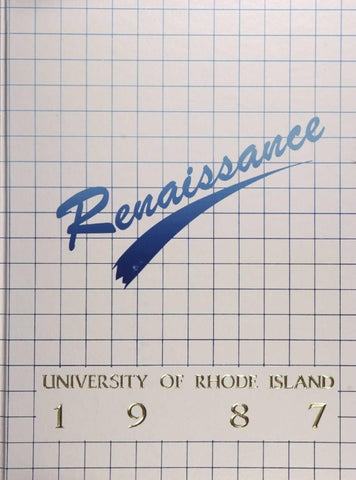 Dnouement 1987 Yearbook By Rhode Island College Digitial