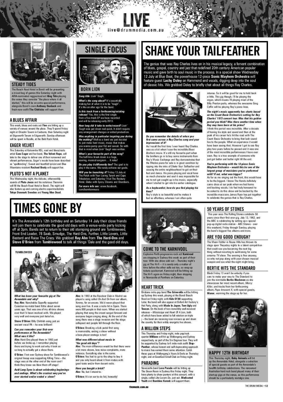 Drum Media Sydney Issue 1118 By Themusic Issuu