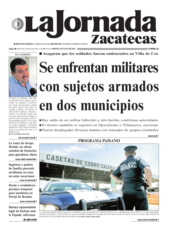 La Jornada Zacatecas Martes 10 De Julio De 2012 By La