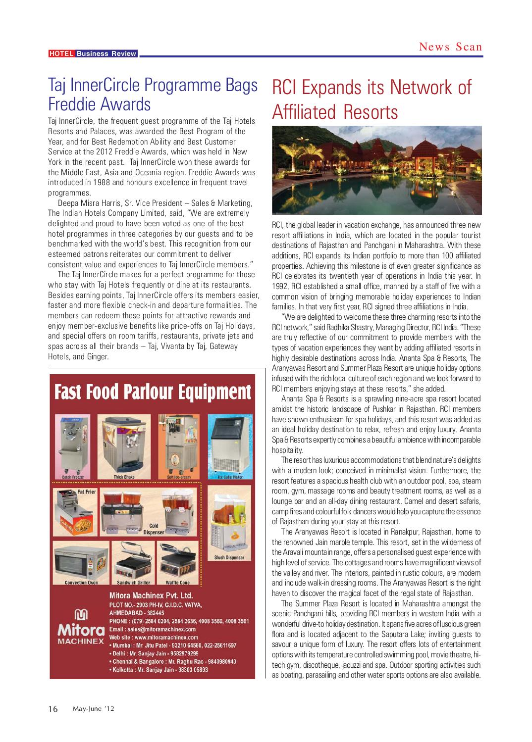 Hotel Business Review by Hammer Publishers Pvt  Ltd - issuu