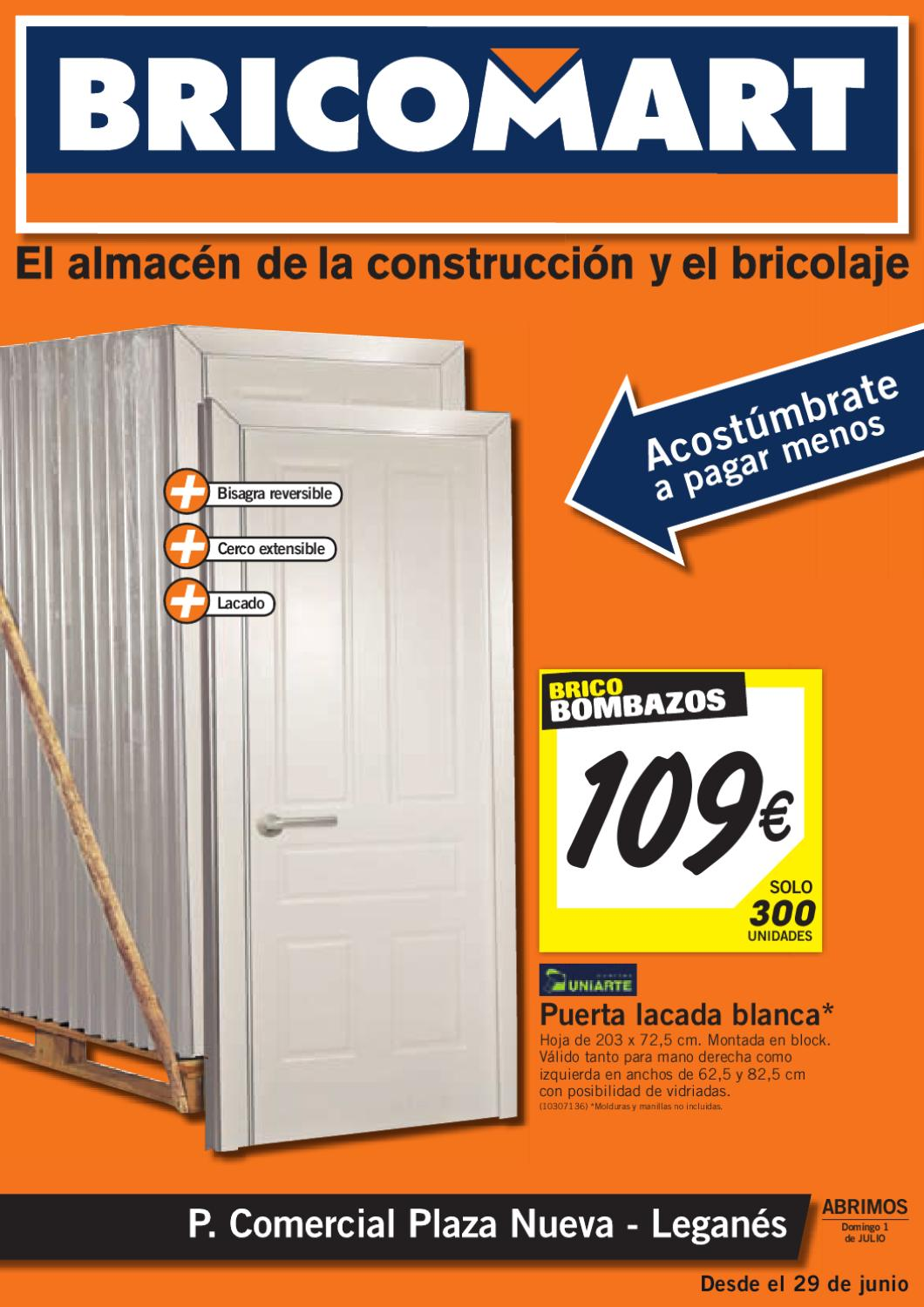 Bricomart catalogo folleto hogar 30 julio 2012 by for Puertas interior bricomart