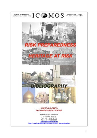ICOMOS-Bibliography of Cultural Heritage at Risk by sunega-tognon