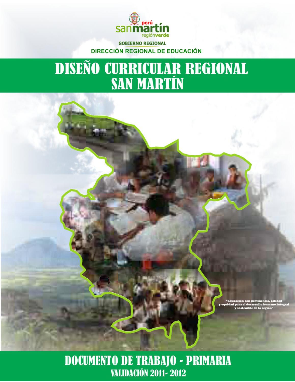 Dise o curricular regional san mart n nivel primaria by for Diseno curricular primaria