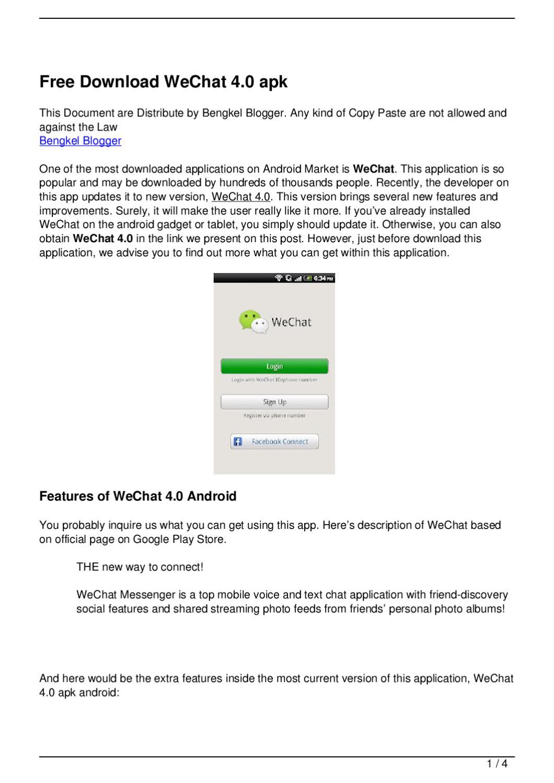 Free Download WeChat 4 0 apk by Bayu Nugraha - issuu