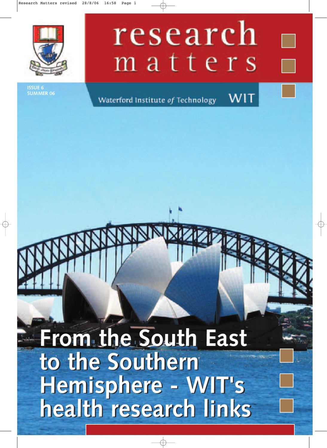Research Matters Issue 6 - Summer 2006 by Waterford