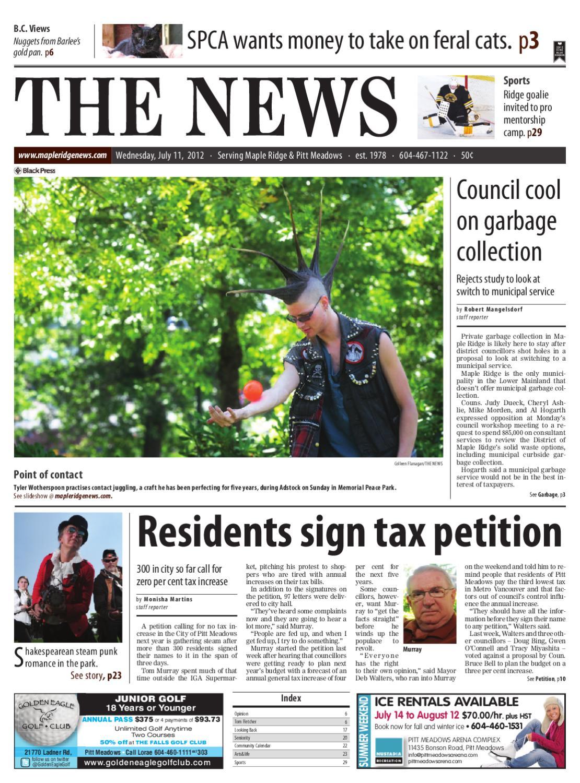 Maple Ridge News, July 11, 2012 by Black Press Media Group