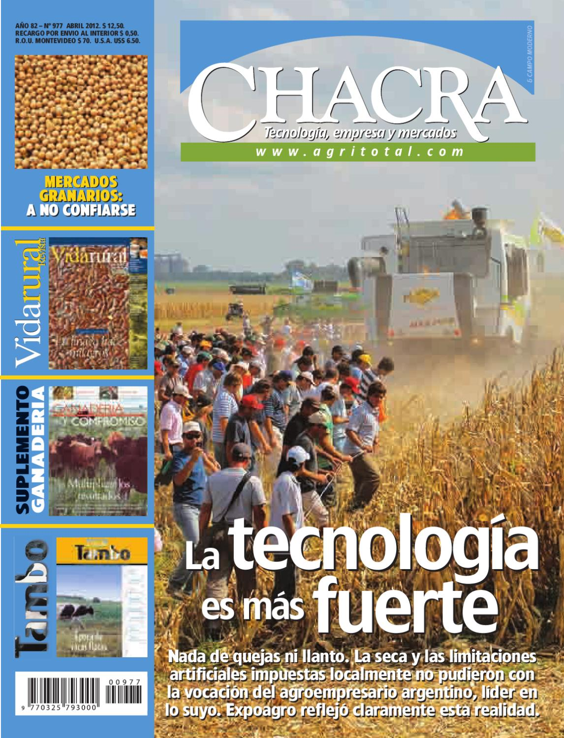 Revista Chacra Nº 977 - Abril 2012 by Revista Chacra - issuu 30b12a49a06