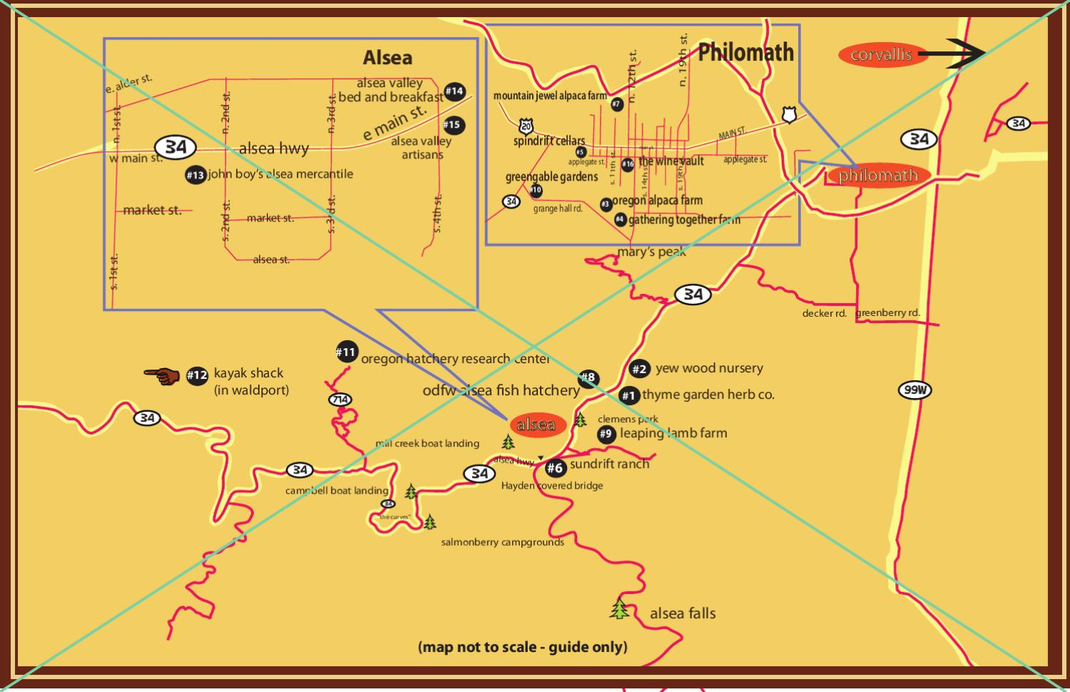 Alsea Oregon Map.Alsea Valley Country Trail Map By Visit Corvallis Issuu