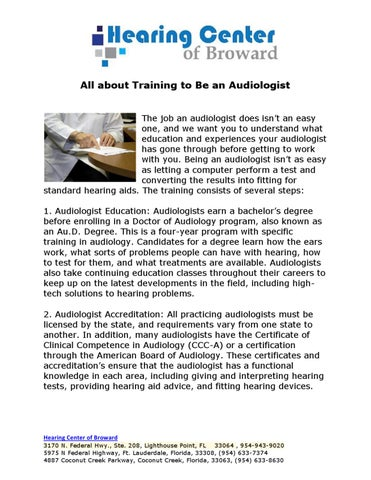 All About Training To Be An Audiologist by Cynthia Heise - issuu