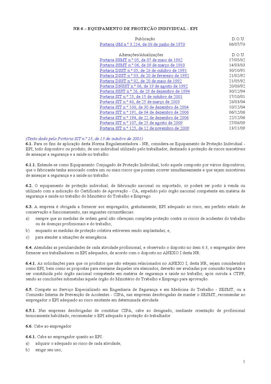 52ec6be410e0b NR 6 – EQUIPAMENTO DE PROTEÇÃO INDIVIDUAL - EPI by Alexander Lotti - issuu
