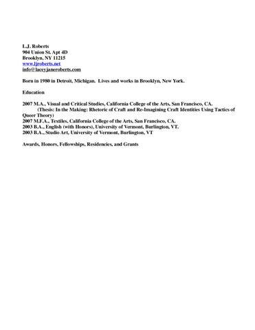 resume by LJ Roberts - issuu