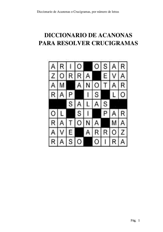 Diccionario Para Resolver Crucigramas By Marcelo Yumiceba Issuu