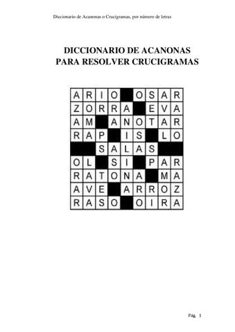 DICCIONARIO PARA RESOLVER CRUCIGRAMAS by Marcelo Yumiceba - issuu
