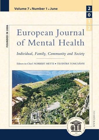 European Journal of Mental Health 7 2012/1 by European Journal of ...