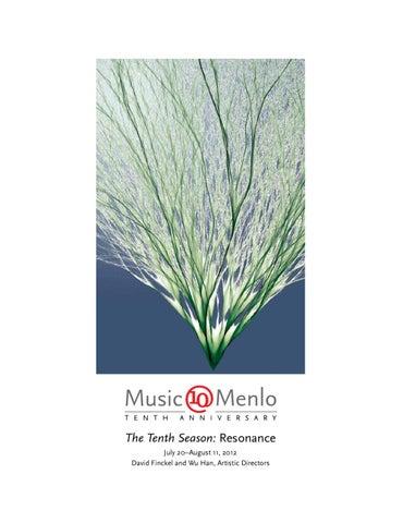 Musicmenlo 2012 Program Book By Claire Graham Issuu
