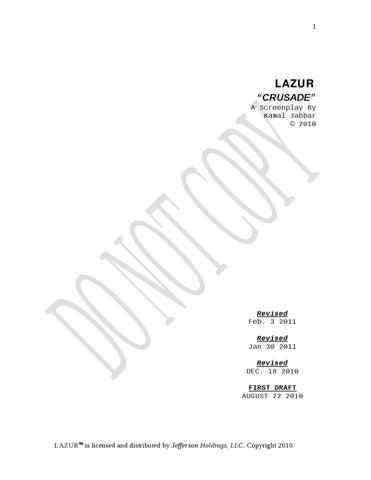 Lazurr Crusade By Palace Music Group Llc